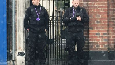 The enforcement officers hired by Fenland Council to try and keep the steets clean. Picture: Archant