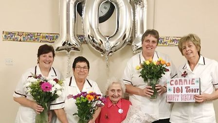 Constance Peace, from Whittlesey, who was born on Armistice Day has celebrated her 101st birthday. P