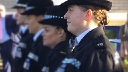 Former veterinary nursing assistant Zara Oakley graduated as a police officer in front of proud frie