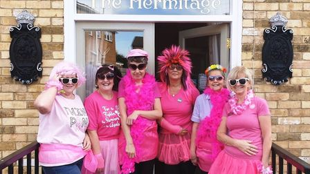 Wear It Pink themed day at the Hermitage Care Home, Whittlesey. Picture; SUBMITTED