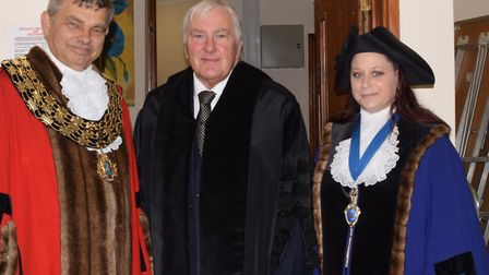 The mayor of March, Cllr Rob Skoulding, his the annual civic service for the town at St Wendreda's o