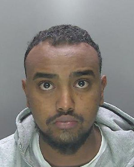 Drug dealer Abdi Hassan (pictured) who was suspected of working in Cambridgeshire has been jailed af
