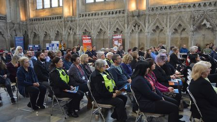 The Community Eyes and Ears event held at The Lady Chapel inside Ely Cathedral on Thursday, October