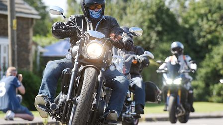 Dozens of bikers put on their leathers in August for a charity ride in memory of Phil Beeton. Pictur