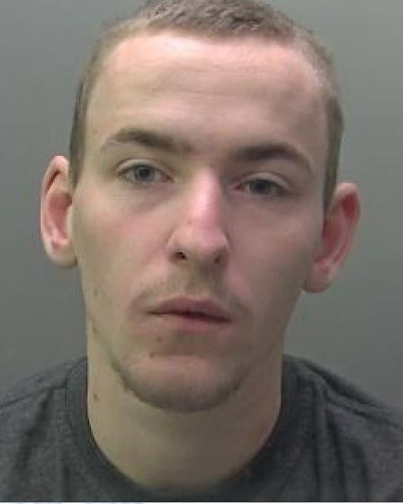 Robbie Grans has been jailed after an attack on his girlfriend. He smashed a vase over her head. Pic