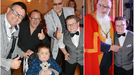 Schoolboy magician Alfie hosts sell-out charity show for Jay Davison. Picture: MIKE ROUSE