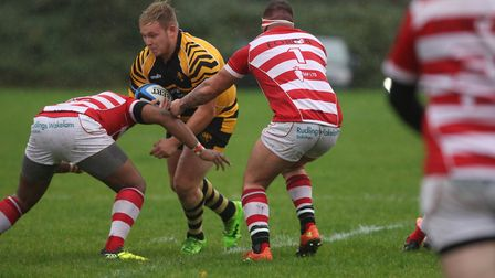 Ely Tigers try scorer Nathan Brooks (pic Steve Wells)