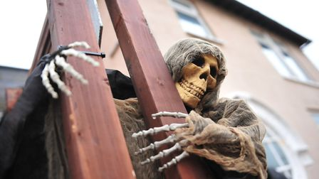 Tommy and Jo Kelly's spooky Halloween house in March that's set to scare the town this week. Picture