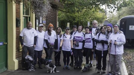 A group of 15 walked 26 miles along the Flitch Way on Sunday (October 27). Picture: CONTRIBUTED