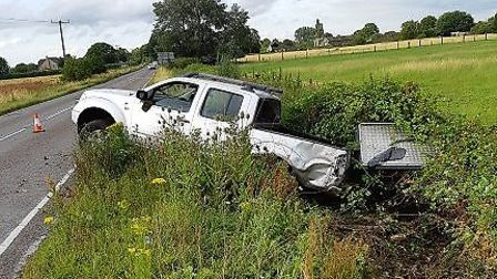 The Elm Road crash which saw Jack McDarby fail to supply a breath sample on July 20. Picture: Suppli