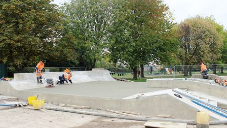 A state-of-the-art skate park in March has seen £120,000 improvement works get underway. Picture: AM