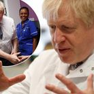 Prime Minister Boris Johnson visits the National Institute for Health Research at the Cambridge Clin