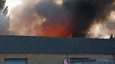 Explosions are being heard in March this afternoon amid a blaze that has broken out at then Longhill
