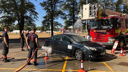 Fire crews across Cambridgeshire turned their stations into car washes and dug out their sponges and