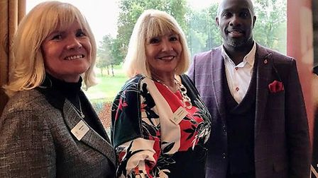 From left: Melanie Beck, trustee at SportsAid; Paula Sparling, administrator at SportsAid, and Derek