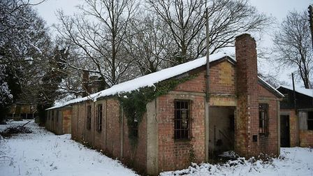 One of the surviving buildings at former camp, which is believed to have held up to 1,500 Italian, G