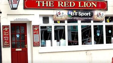 Two men were arrested and three people hospitalised after a brawl broke out at The Red Lion pub in M