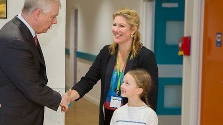 A children's doctor showcased an innovative hearing device that she created to The Duke of York. Dr