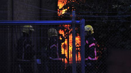 Homes have been evacuated as a safety precaution after a large fire broke out at the Force One Limit