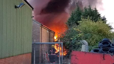 A number of houses have been evacuated as a safety precaution after a fire broke out at the Force On