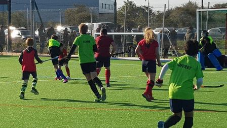 Ely City's under-14 boys in action