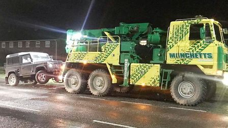 A rare Land Rover that was stolen from a devastated 19-year-old in Isleham was found 10 miles away h