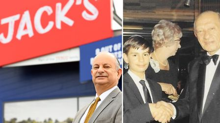 The great nephew of Tesco founder Jack Cohen visited Jack's supermarket in Chatteris. Picture: IAN C