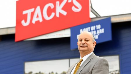 The great nephew of Tesco founder Jack Cohen visited Jacks supermarket in Chatteris. Picture: IAN CA