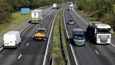 M11 at junction 13 in Cambridgeshire. Picture: Chris Radburn/PA Archive/PA Images
