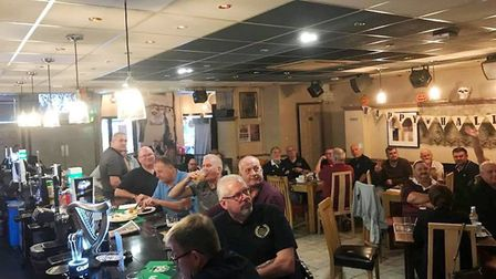 Veterans tuck in to cooked breakfast at Cassanos earlier this year. Now you can win a Christmas meal