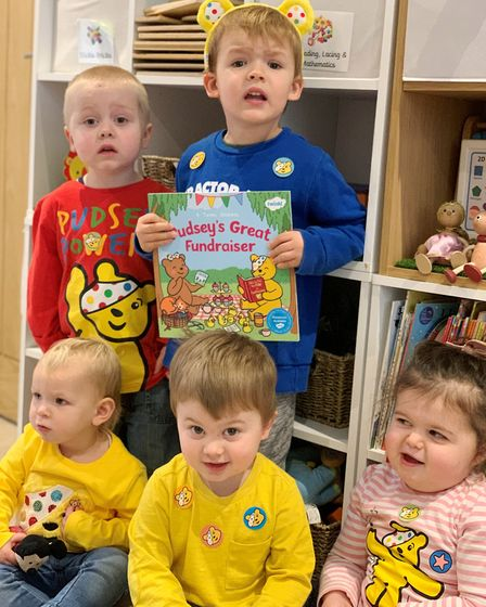 Children in Chatteris baked delicious treats, dressed in yellow and wore Pudsey ears as part of week