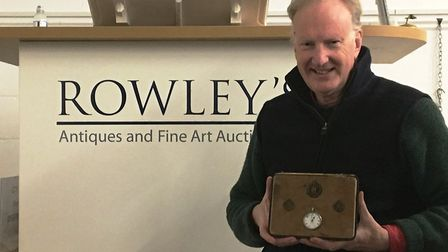 Roddy Lloyd of Rowley's who is selling a watch connected with an incredible moment from WW1. Picture