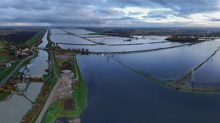 North Bank in Whittlesey has flooded this morning due to the River Nene being too high following rai