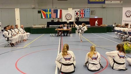 Sophia Stanton - first in weapons, first in forms and first in sparring at the European championship