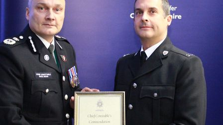 Police officers and staff across Cambridgeshire were commended for bexceptional acts of selflessness