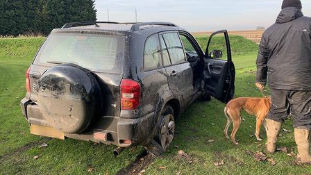The latest suspected hare coursing incident in Guyhirn, near the Shell garage on Wednesday, November