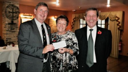 Town councillor James Carney helped to raise £860 for a Remembrance effort by organising for sponsor