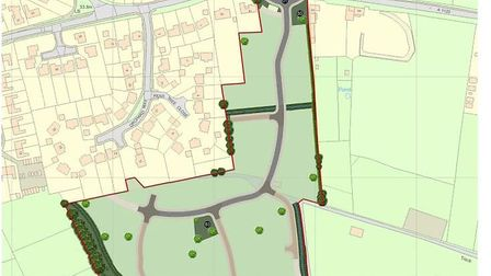 Haddenham - the site that was proposed for 110 homes. The application has been rejected for the seco