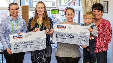 Nellie's Community Café in Sutton gives cash boost to Arthur Rank Hospice Charity and Sutton Squiggl