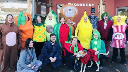Fundraising fancy dress at the College of West Anglia including Pikachu, Super Mario – and even a fl