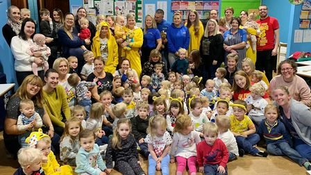 Pudsey power! Ely childminders raise hundreds of pounds for Children in Need. Picture: SUE SMITH