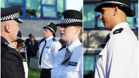 Two new police officers on the beat in Fenland. PCs Nicola Coaker and Ryan Windass graduated today (