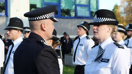 Two new police officers on the beat in Fenland. PC Nicola Coaker graduated today (November 18). Pict
