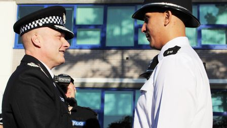 Two new police officers on the beat in Fenland. PC Ryan Windass graduated today (November 18). Pictu