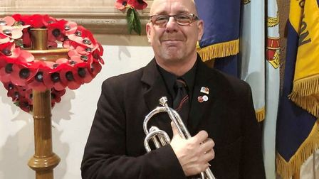 The musical director of March Brass 2000 sounded the Last Post in town. Picture: Louise Tombleson