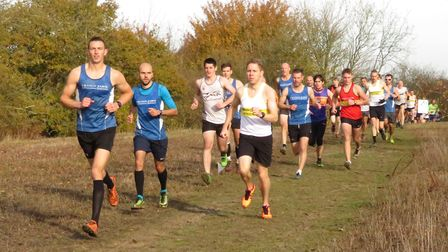 Grange Farm & Dunmow Runners in action at the Mid-Essex Cross-Country League event in Braintree