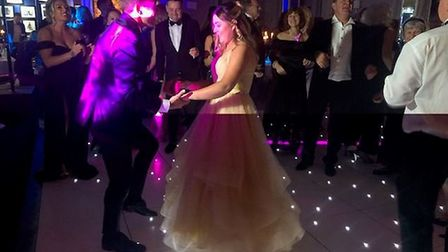 Maddi was able to dance at her ball