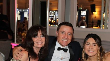 Maddi (right) with Vicki Michelle and singer Andy Wiltsher