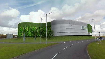 A 3D image of what the car park could look like, if the development goes ahead. Picture: ARORA MANAG