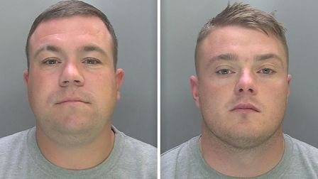 Shane Cunningham (left) and Kenny Hughes (right) have been jailed after committing a string of distr